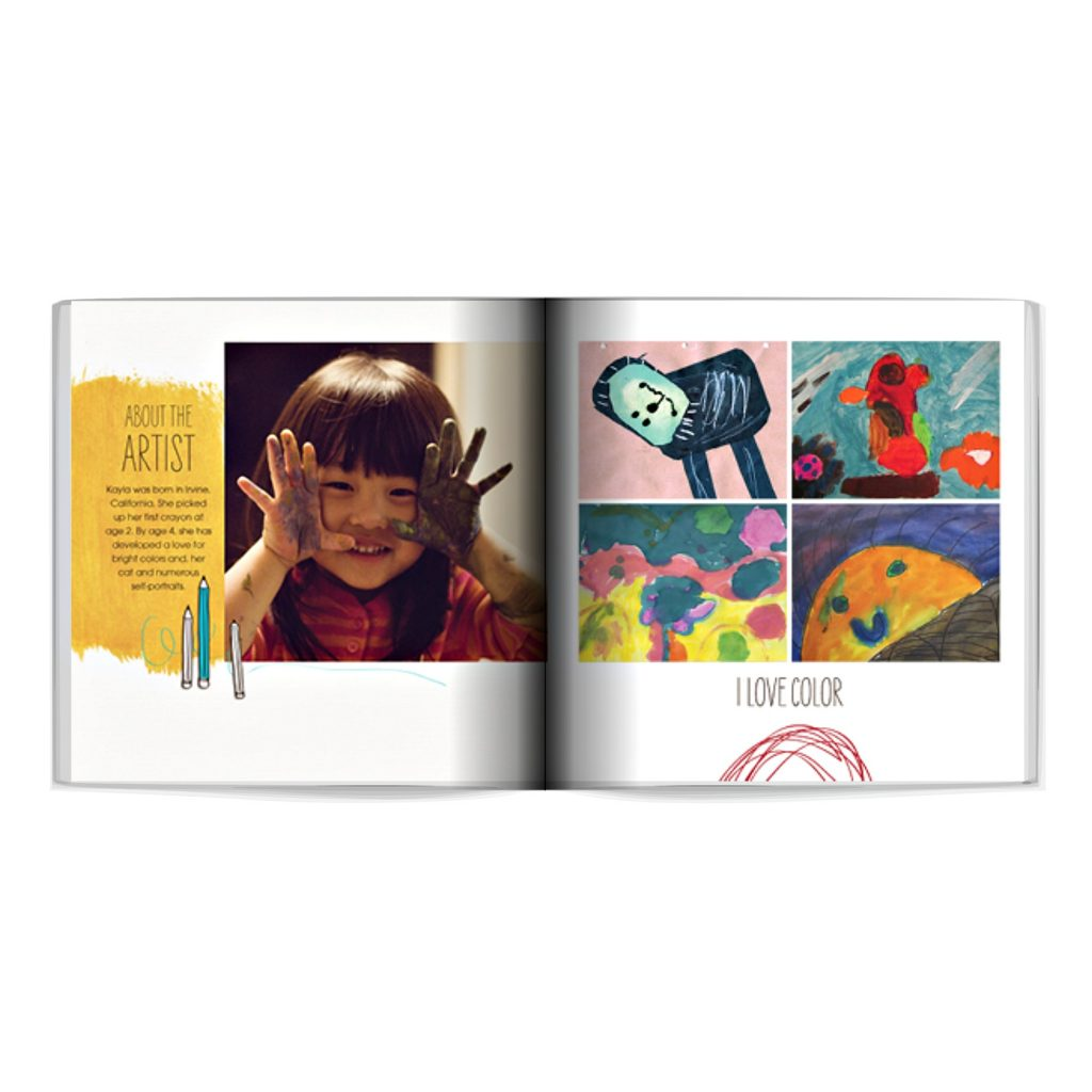 Creative ways to display kids' artwork: Digitize it and make a custom photo album, like this one from Shutterfly