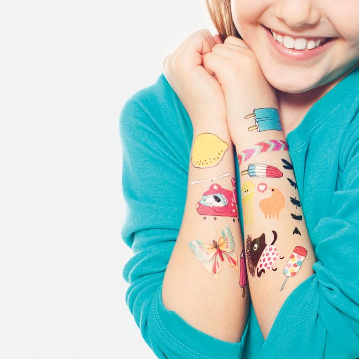 Comfort items  to pack for back-to-school anxiety: Tattly temporary tattoos