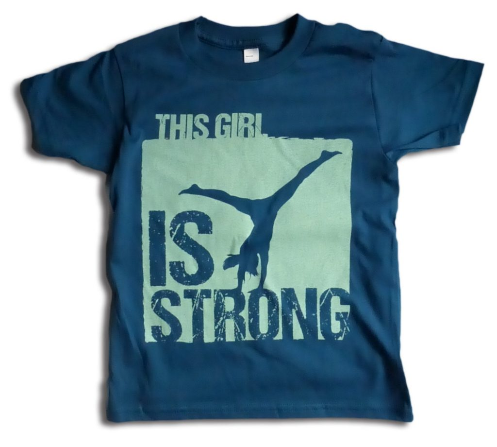 This girl is strong gymnastics tee from This Girl Tees on Etsy