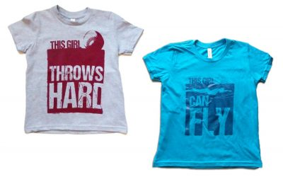 The strong athletic girls t-shirts that honor her passion for sports.