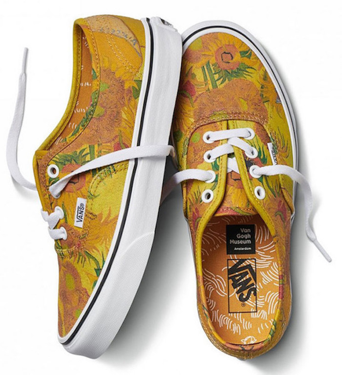 Vans x Van Gogh Museum: Shoes inspired by Vincent Van Gogh's Sunflowers