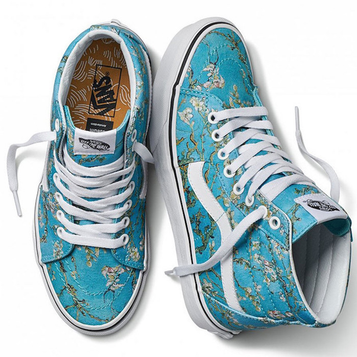 The Vans x Van Gogh Museum collection: High-tops inspired by Vincent Van Gogh's Almond Blossoms