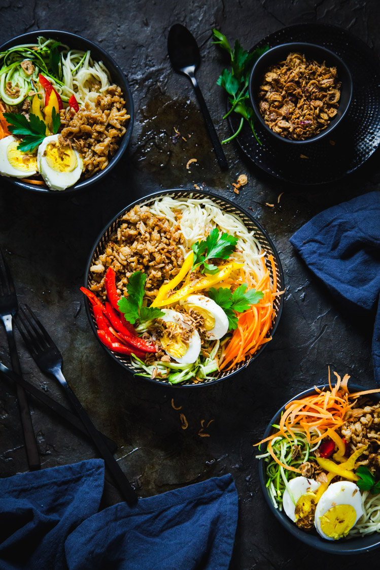 6 natural remedies to keep your family healthy during back-to-school season: Pork noodle bowl | The Whimsical Wife
