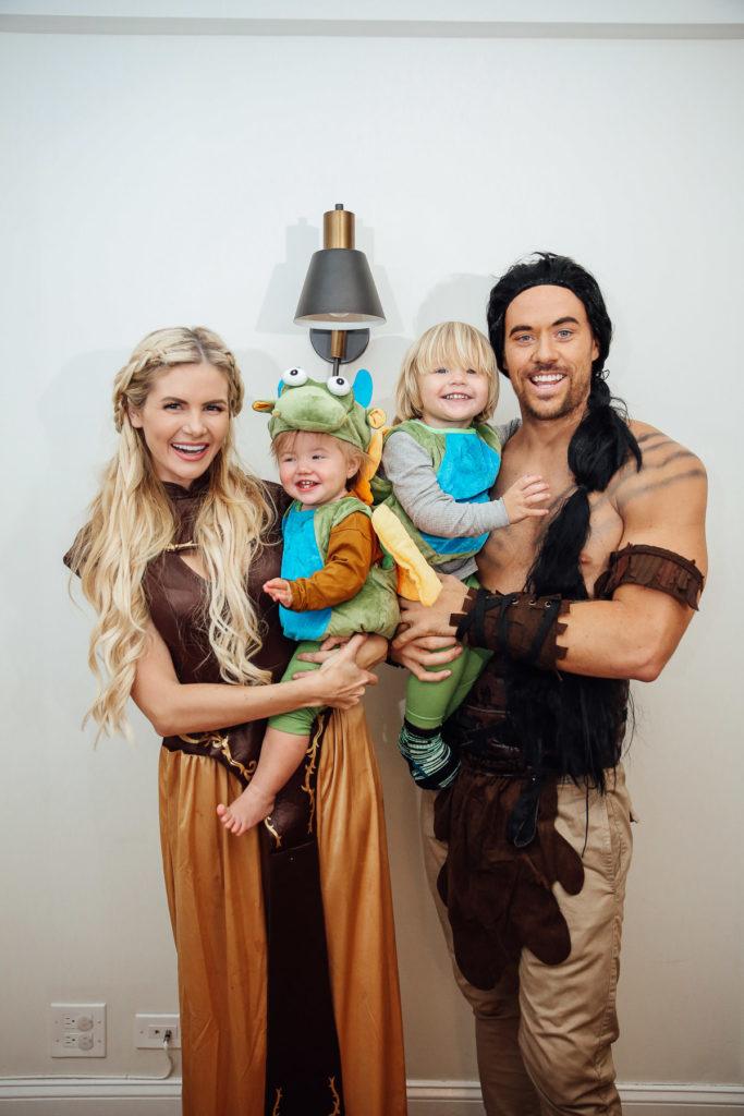 Family Halloween costume idea: Game of Thrones family Halloween costume at Barefoot Blonde
