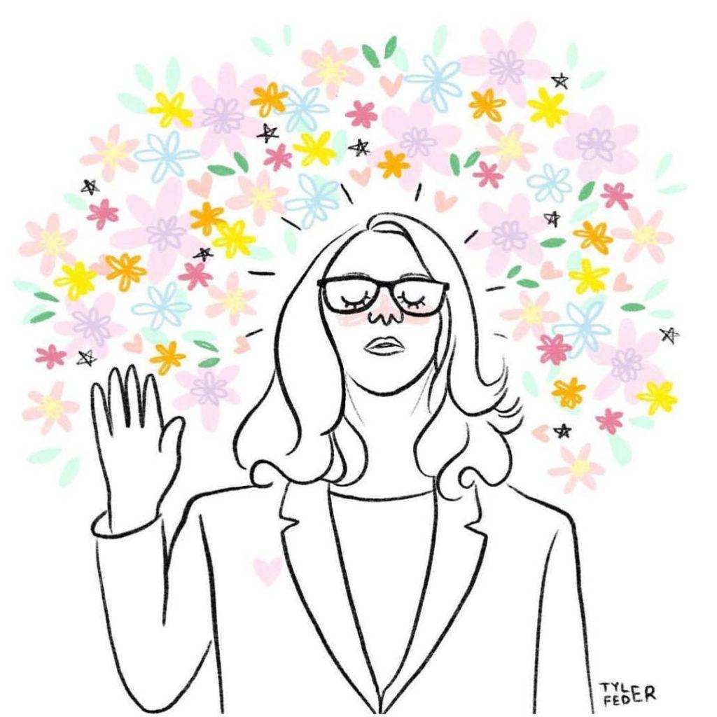 Dr. Christine Blasey Ford illustration by Tyler Feder