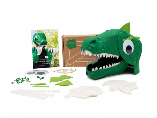 DIY Halloween costume kits from Kiwi Co: Mechanical, chomping dinosaur