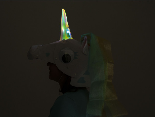 DIY Halloween costume kits from Kiwi Co: Unicorn with a glowing horn