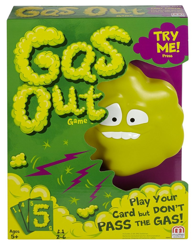 The popular gross-out games right now: Mattel's Gas Out