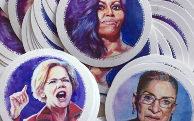 We love the story behind these cool political women icon stickers