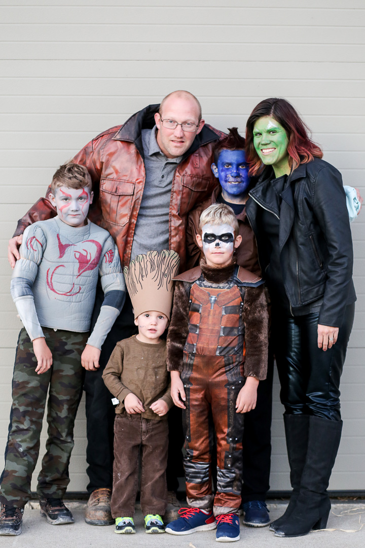 Amazing Guardians of the Galaxy family Halloween costume DIY from Sugaarbee Crafts