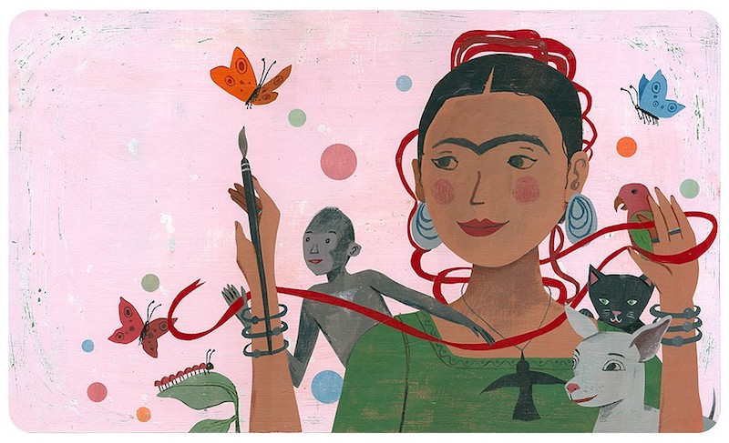 Hispanic Heritage Month books: Frida Kahlo and her Animalitos by Monica Brown and John Parra