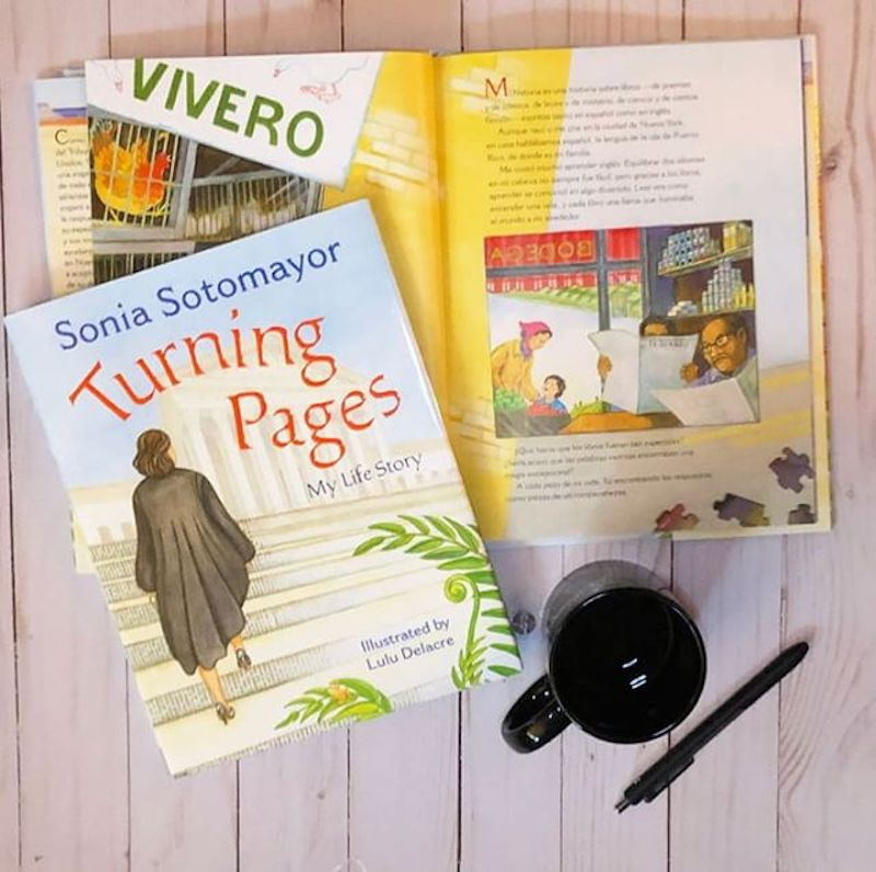 Hispanic Heritage Month books: Turning Pages by Sonia Sotomayor and Lulu Delacre