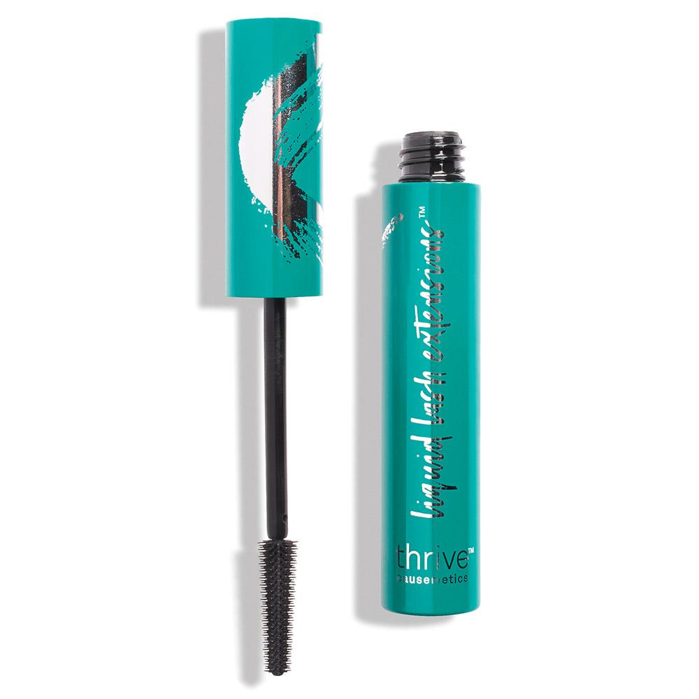 Liquid Lash Extensions Mascara from Thrive Causemetics makes your lashes super long, doesn't run, and you can wear with contacts!
