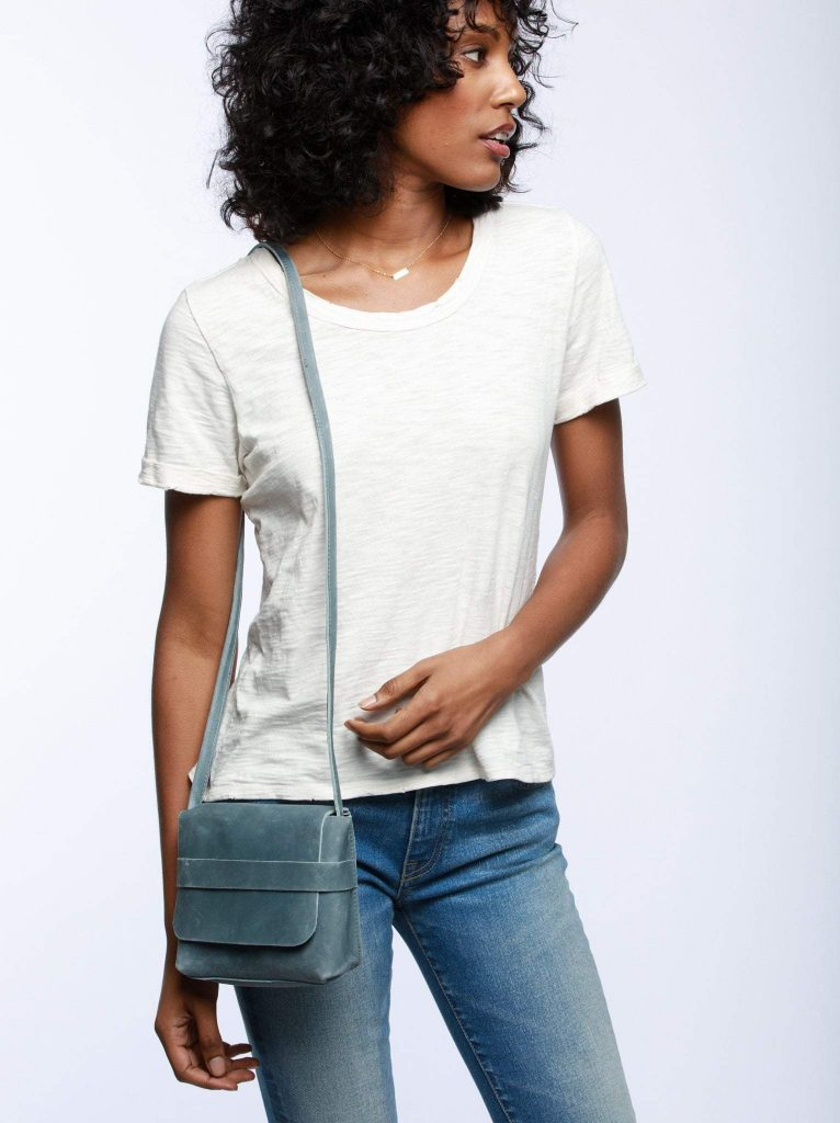 The Mare Mini Crossbody by ABLE is on-trend and supports the women who make it in real ways
