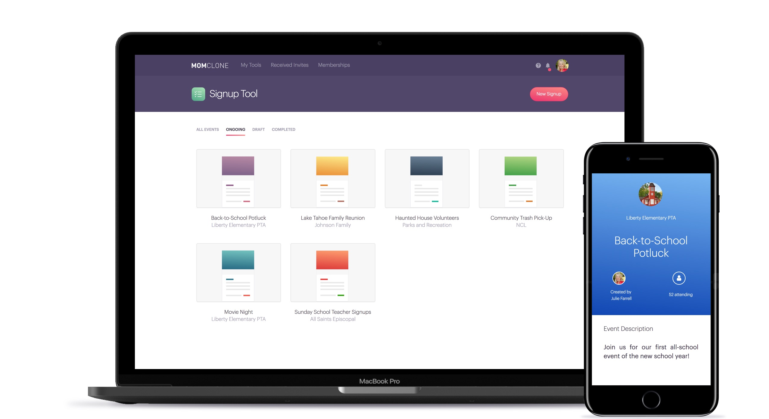 MomClone helps make sign-up and organization easier   Sponsor