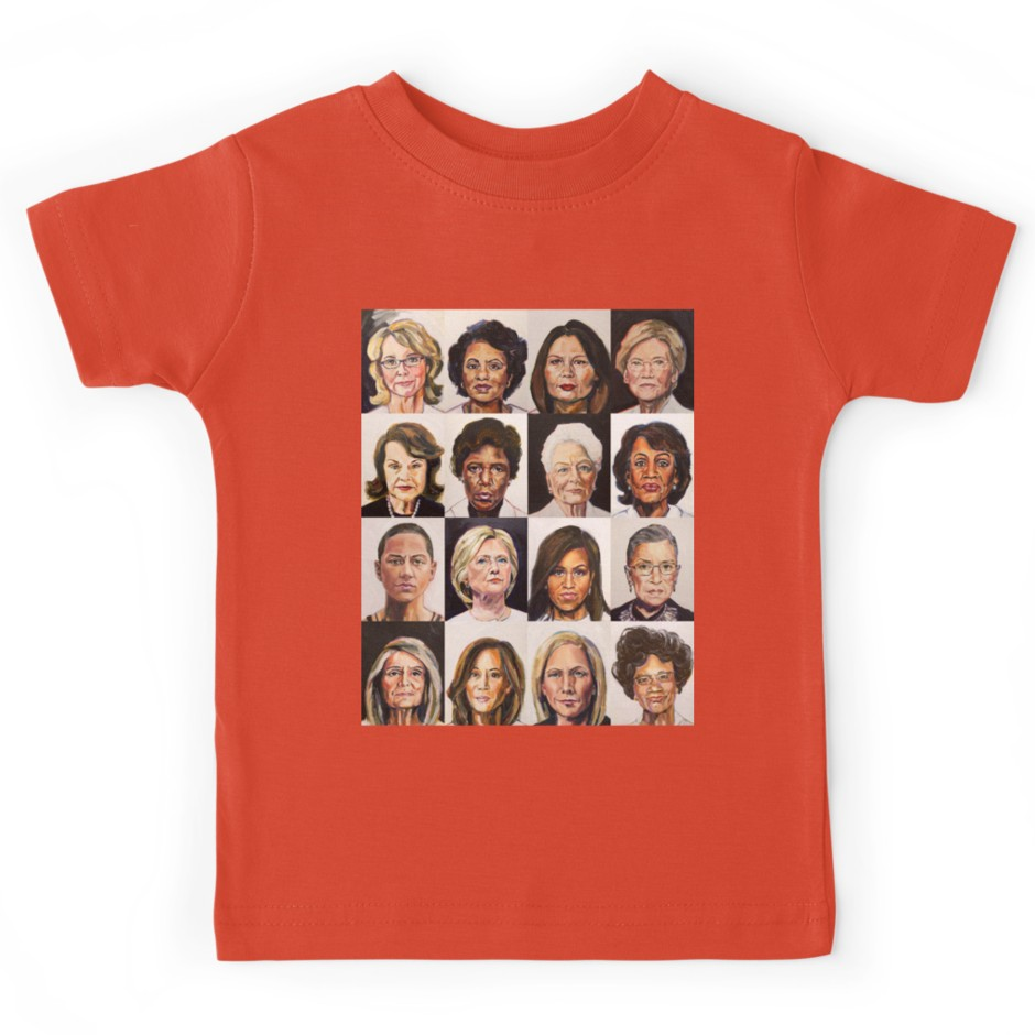 Tina Duryea's Portrait Project of Sheroes now available on tees for men, women and kids
