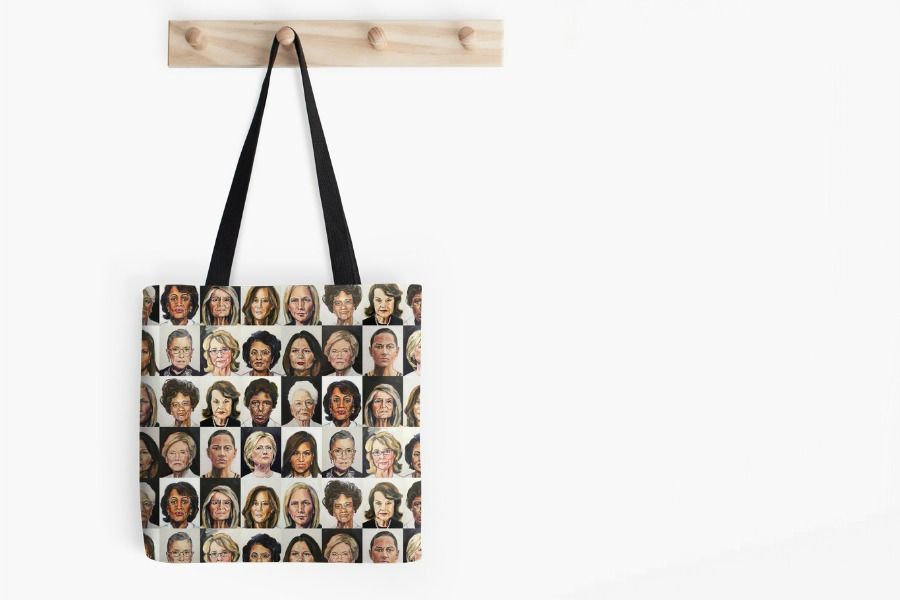 TL Duryea's striking Sheroes Portrait Project, now wearable, drinkable and portable
