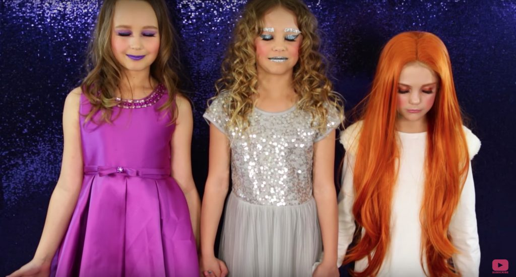 Pop culture costume ideas: The Mrs's from A Wrinkle In Time via The Daya Daily on YouTube