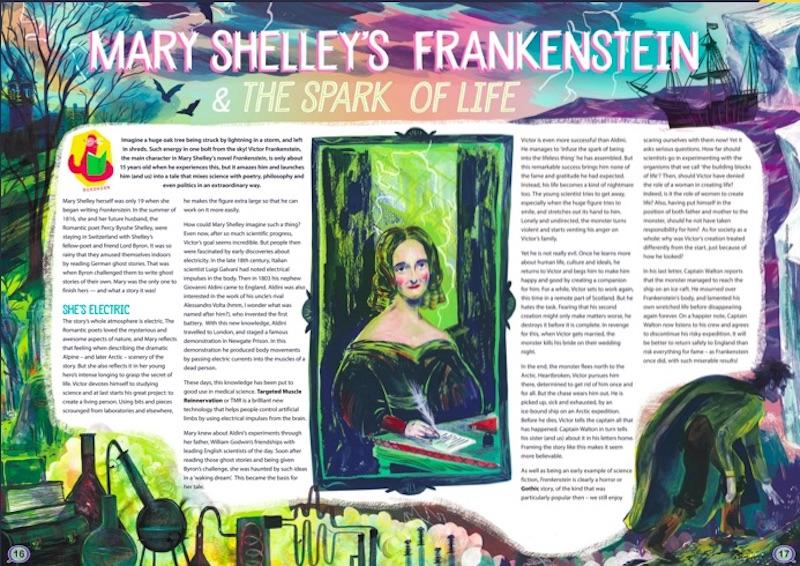 Aquila children's magazine: Mary Shelley