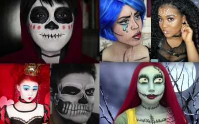 20 of the most amazing, must-see Halloween face paint video tutorials on YouTube.