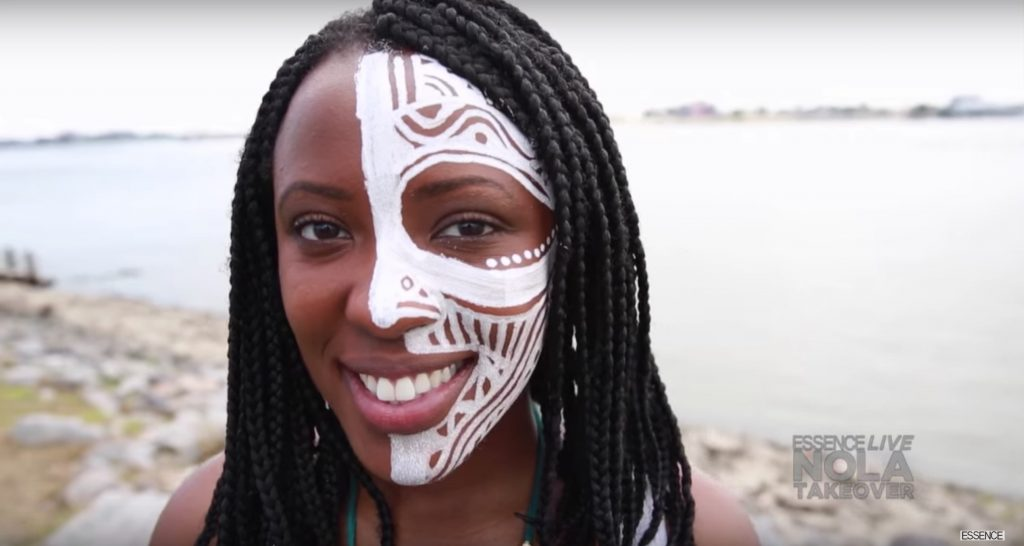 Best face painting video tutorials: Beyonce' Lemonade inspired face paint video tutorial by Laolu Senbanjo on Essence Live