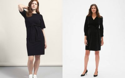 3 smoking black maternity dresses for fall and winter, even if you're not on Meghan Markle's budget