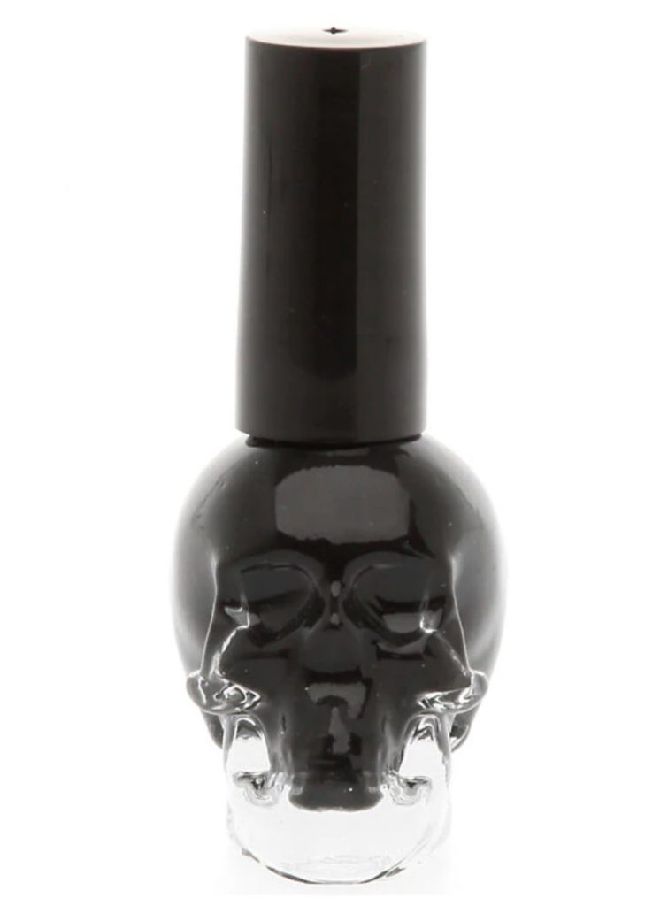 Black skull nail polish from Blackheart Beauty makes a cool non-candy Halloween gift