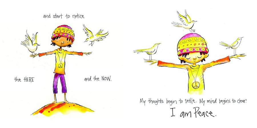 Children's books about mindfulness: I Am Peace by Susan Verde and Peter Reynolds