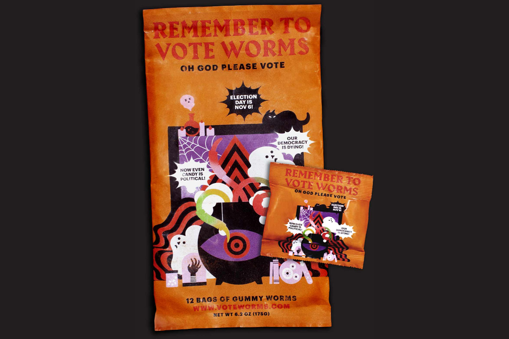 """Here's how to buy Cards Against Humanity's """"Remember to Vote"""" Worms."""