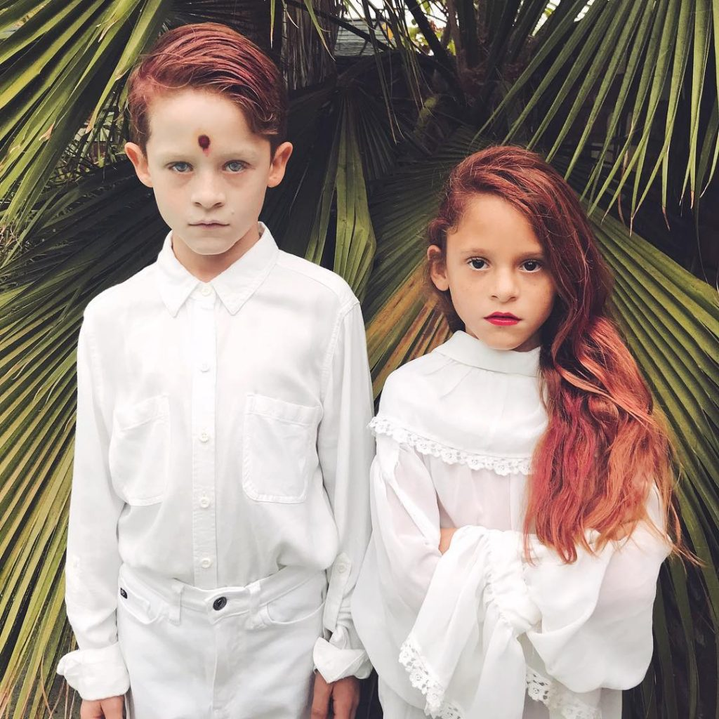 Cheryl and Jason Blossom Riverdale costumes for kids via Nicole Stetter /© bearmom on Instagram
