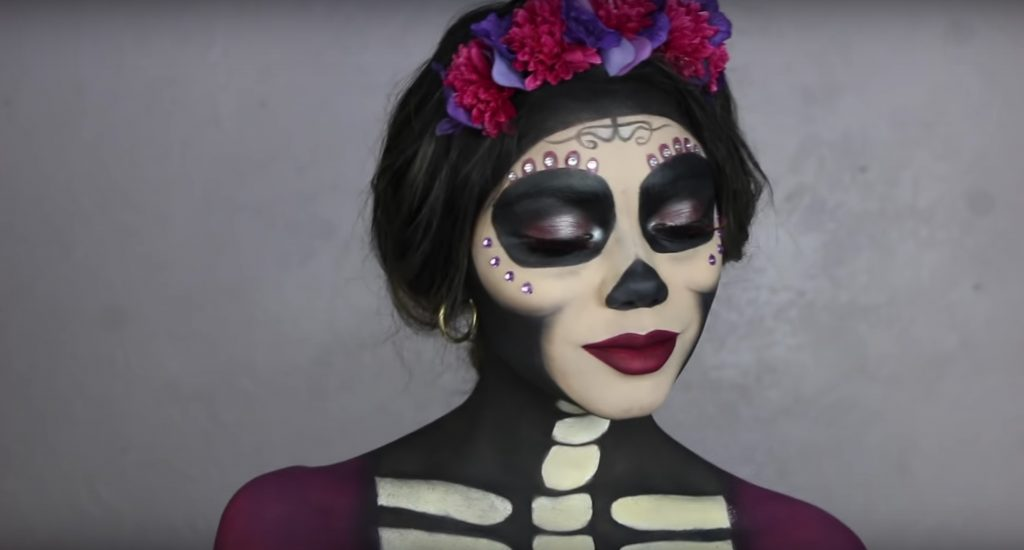 Coco's Glam Mama Imelda face paint video tutorial  by Jessie Martinez