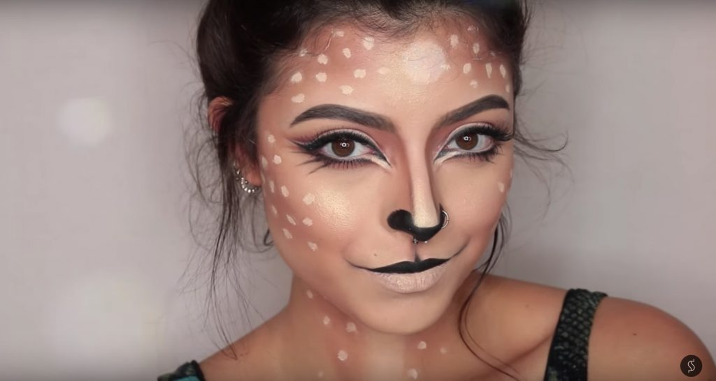Cute deer face paint video tutorial by Stephanie Suero