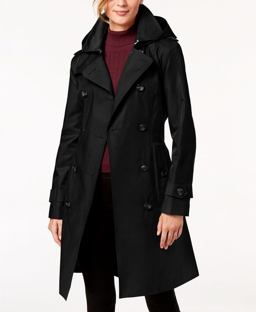 Ladies' London Fog double breasted trench on sale