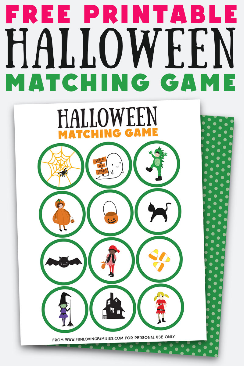 Halloween party printables: Matching game Halloween printable | Fun Loving Families