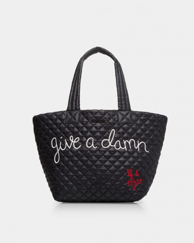 Give a Damn bag from Lingua Franca and MZ Wallace donates 100% of profits to She Should Run. Yes!