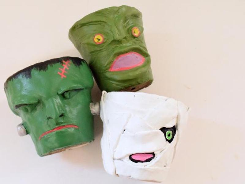 Halloween crafts for kids: Clay planters at DIY Network