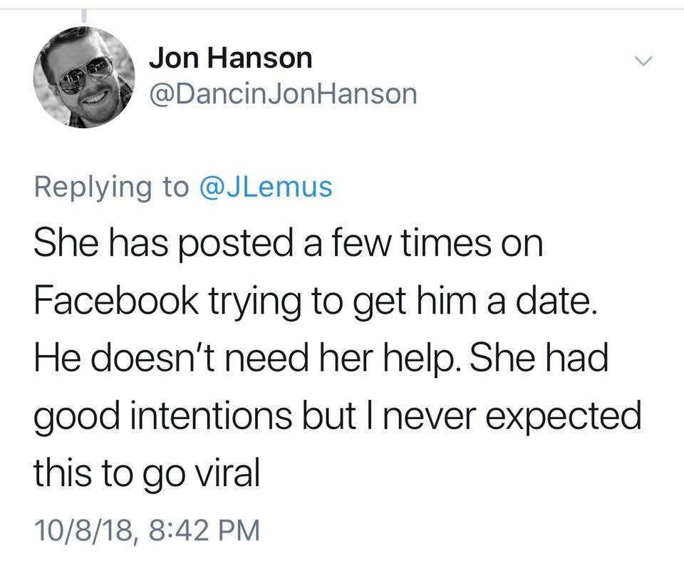 Jon Hanson responds to his mom's viral tweet about his brother and it turned into the best Twitter meme ever
