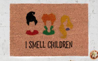 "This Hocus Pocus doormat is a huge improvement over ""smell my feet"""