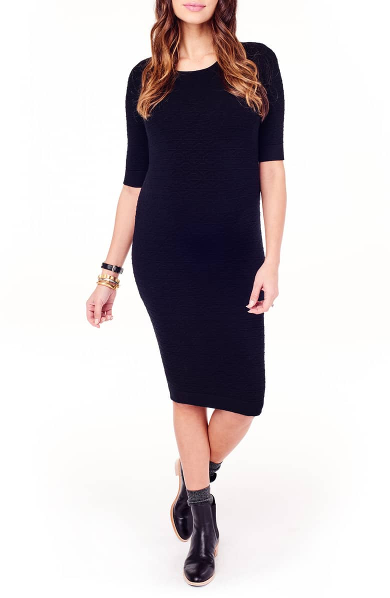 Black maternity dresses for fall: Ingrid Isabel black maternity dress | Nordstrom