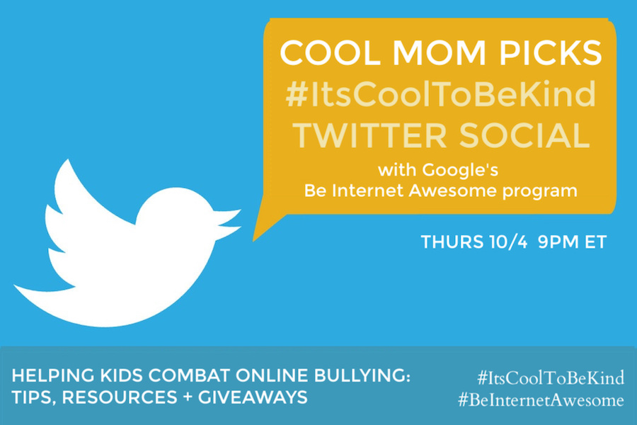 Join us for a Twitter social to help combat online bullying. Because #ItsCoolToBeKind.