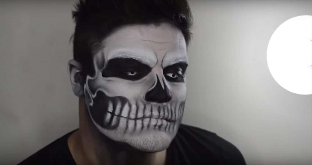 Lady Gaga Skull face paint video tutorial by Alex Faction
