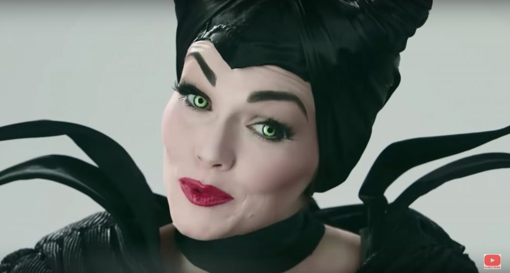 Maleficent face paint video tutorial by Kandee Johnson