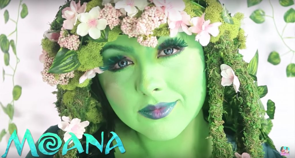 Moana Goddess Te fit face paint video  tutorial by Princess Makeup and Toy