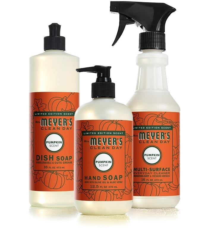 Mrs. Meyers' new limited-edition fall scents, including Pumpkin