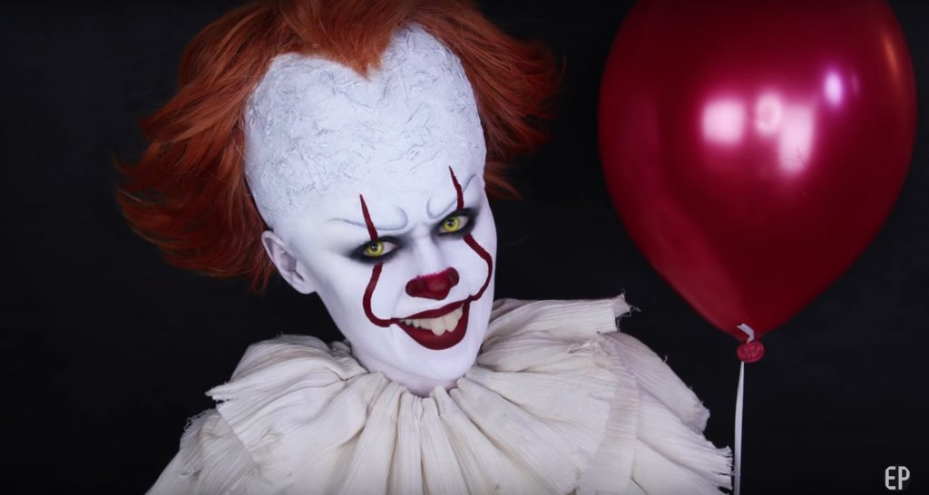 Pennywise from IT face paint video tutorial by Emma Pickles