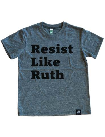 Resist like Ruth tee for kids, new at Wee Rascals honoring the amazing RBG