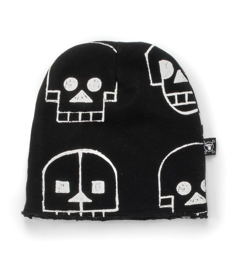 Cool non-candy Halloween gifts for tweens and teens: Skull robot beanie hat from nununu