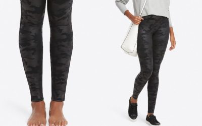 Look we're loving: The new Spanx faux leather camo leggings