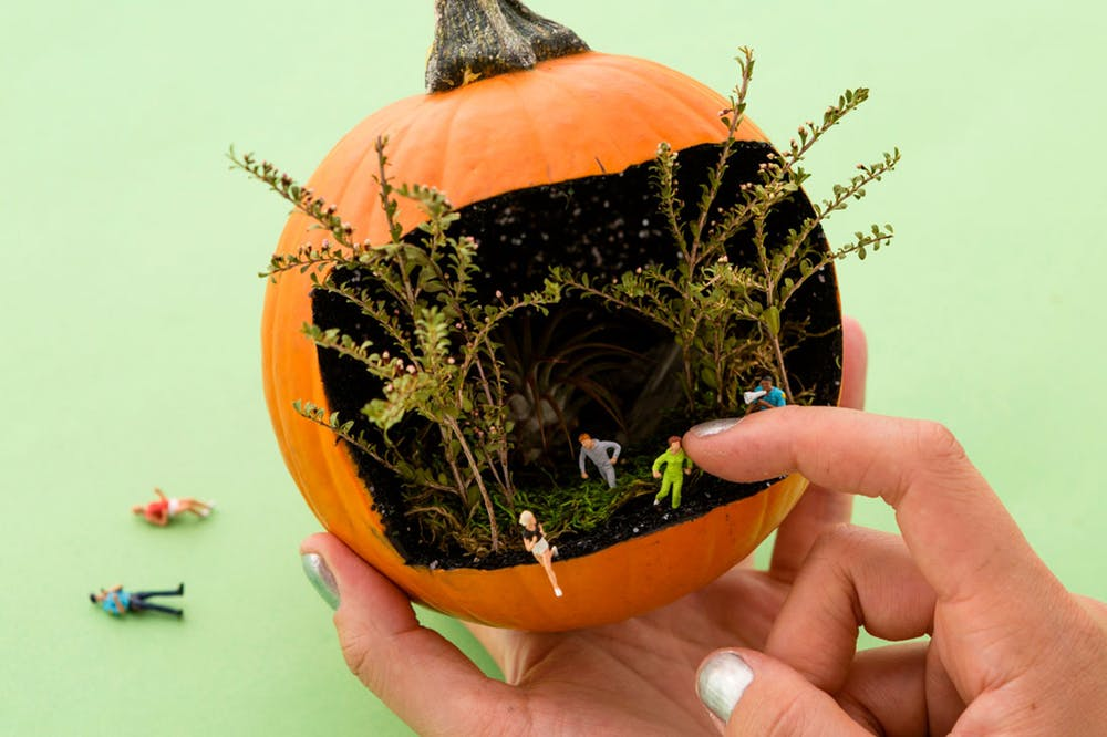 Stranger Thing pumpkin diorama is a great Halloween craft for tweens, teens and adult | tutorial at Brit + Co