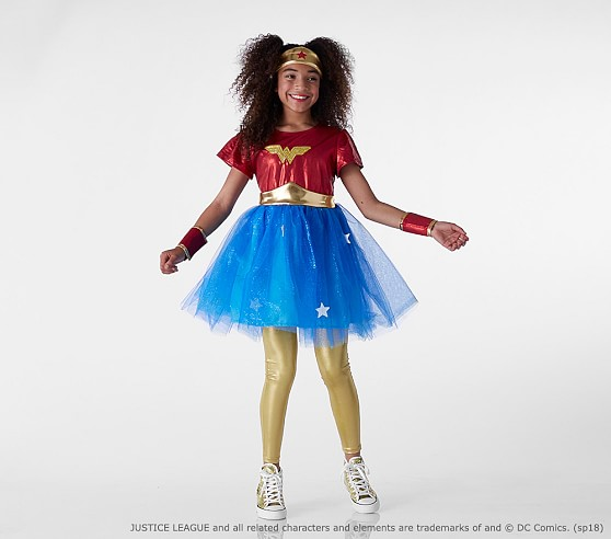 Wonder Woman costume and other kids' halloween costumes now on sale at Pottery Barn Kids
